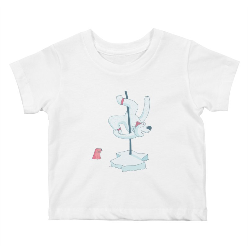 Polar Dance  Kids Baby T-Shirt by MAKI Artist Shop