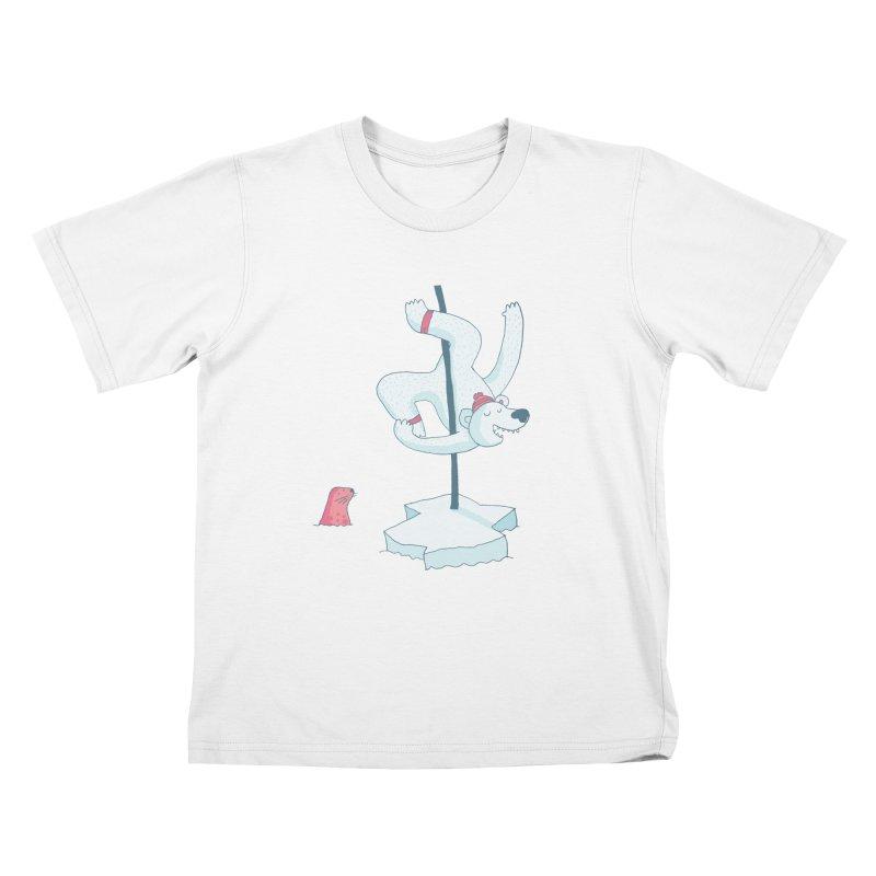 Polar Dance  Kids T-Shirt by MAKI Artist Shop