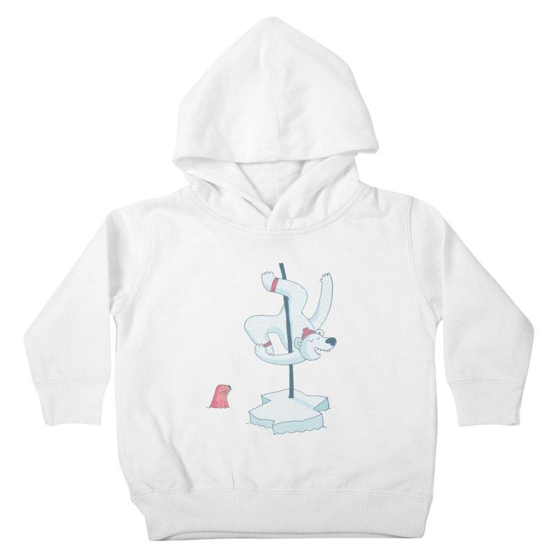 Polar Dance  Kids Toddler Pullover Hoody by MAKI Artist Shop