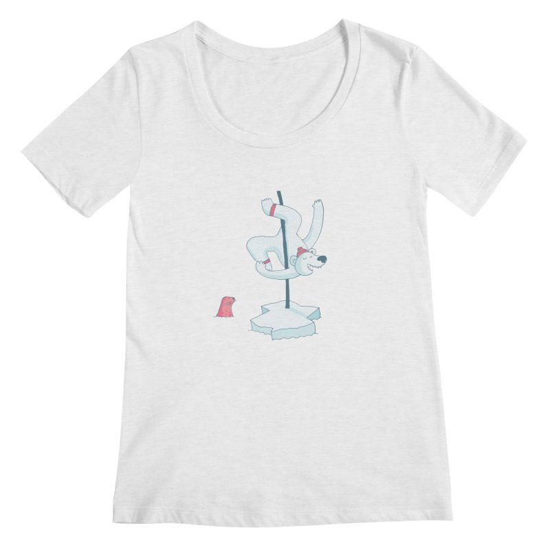 Polar Dance  Women's Scoopneck by MAKI Artist Shop