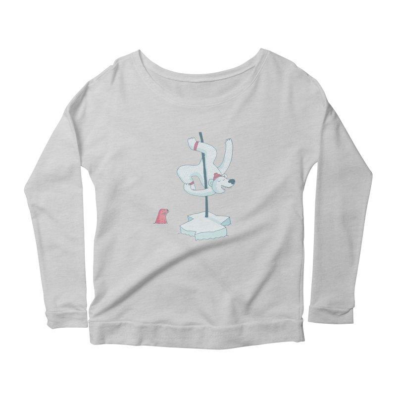 Polar Dance  Women's Scoop Neck Longsleeve T-Shirt by MAKI Artist Shop