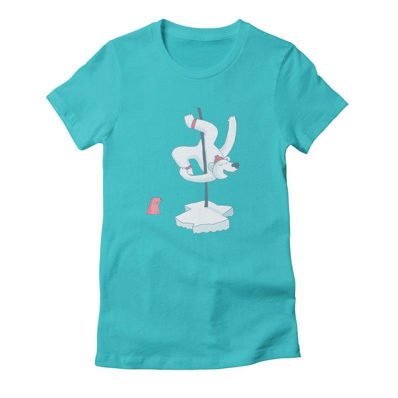 Polar Dance  Women's Fitted T-Shirt by MAKI Artist Shop