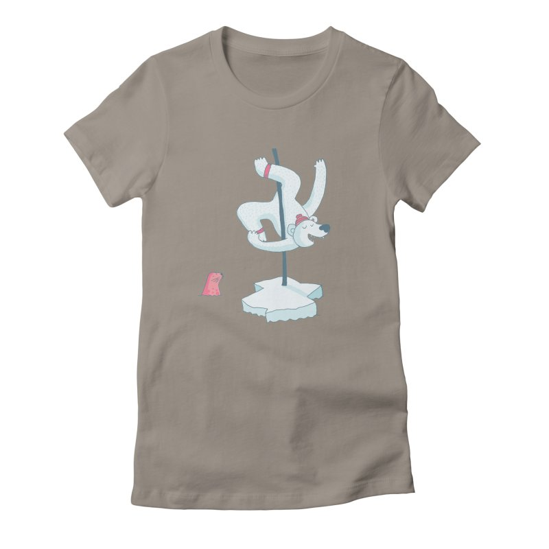 Polar Dance  Women's Fitted T-Shirt by MAKI Artist Shop