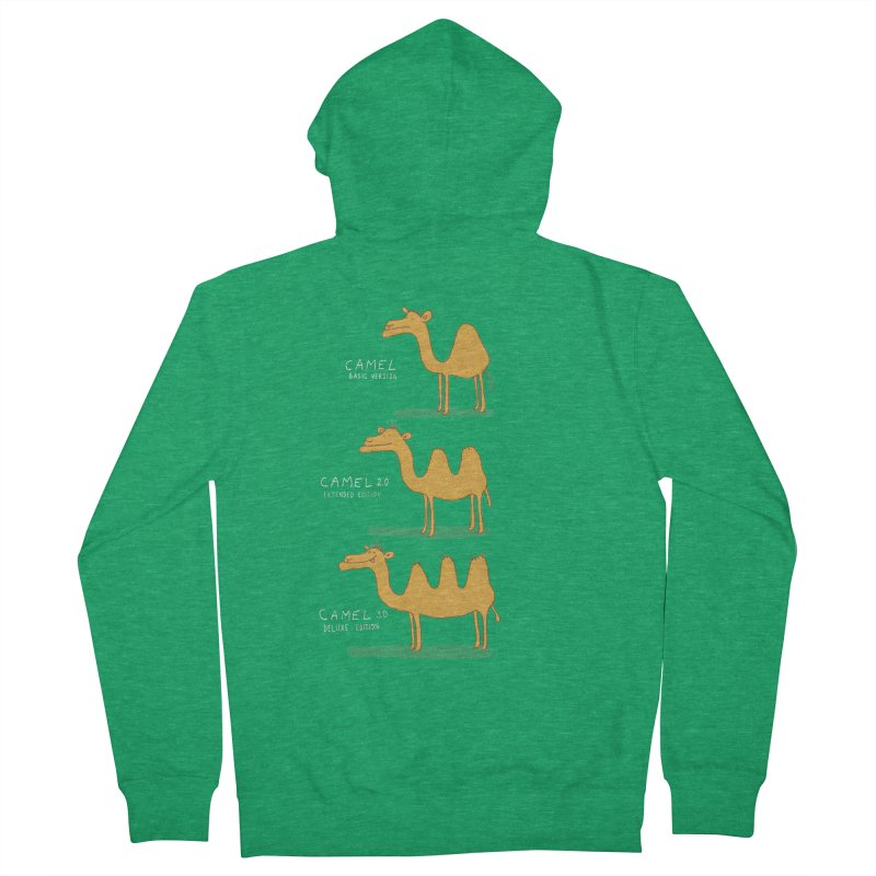 Camel Deluxe Women's French Terry Zip-Up Hoody by MAKI Artist Shop
