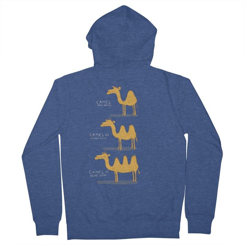 Camel Deluxe Men's French Terry Zip-Up Hoody by MAKI Artist Shop