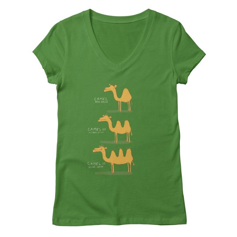Camel Deluxe Women's V-Neck by MAKI Artist Shop