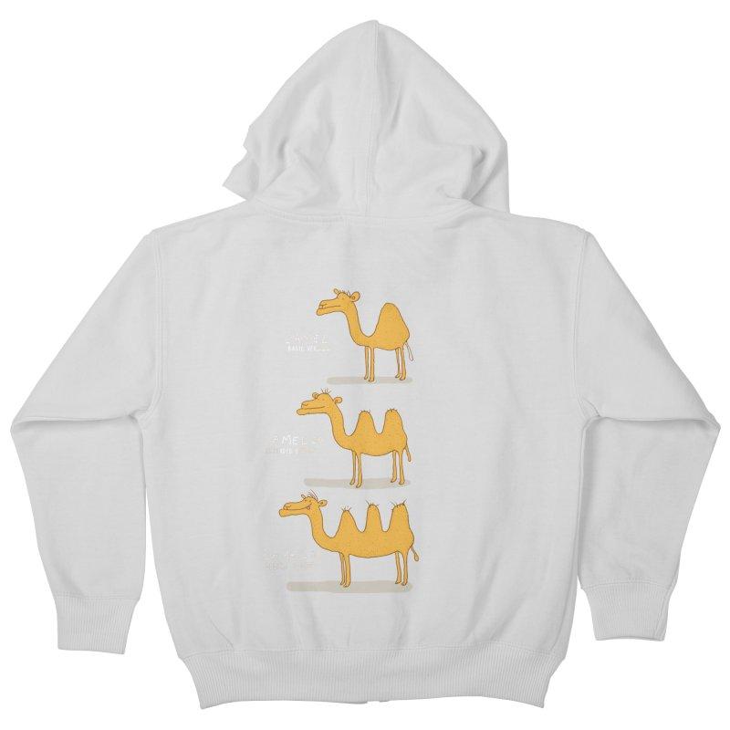 Camel Deluxe Kids Zip-Up Hoody by MAKI Artist Shop