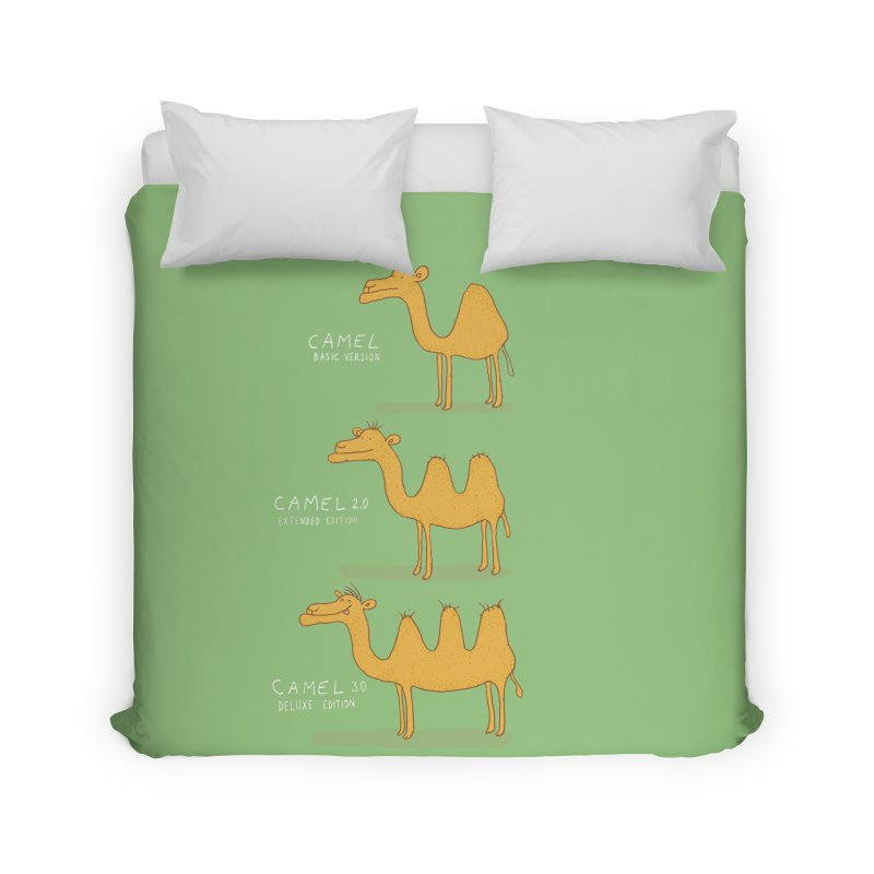 Camel Deluxe Home Duvet by MAKI Artist Shop