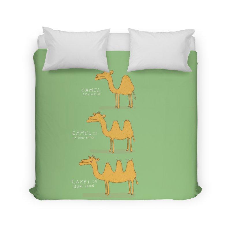 Camel Deluxe Home Duvet by MAKI Artist Shop