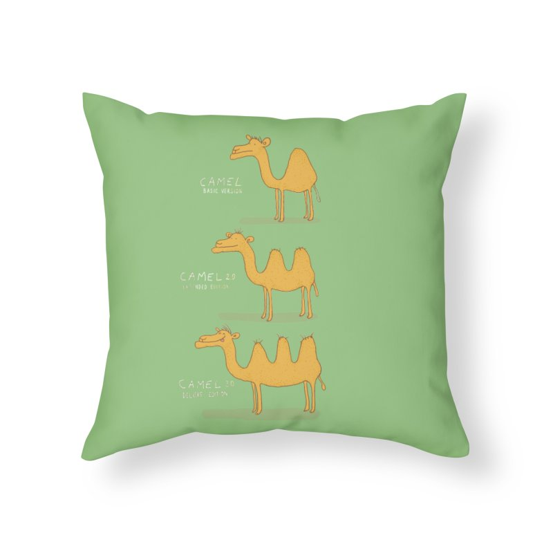 Camel Deluxe Home Throw Pillow by MAKI Artist Shop