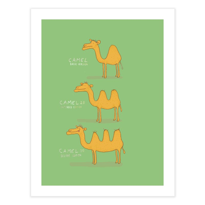 Camel Deluxe Home Fine Art Print by MAKI Artist Shop