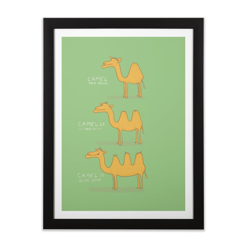Camel Deluxe Home Framed Fine Art Print by MAKI Artist Shop