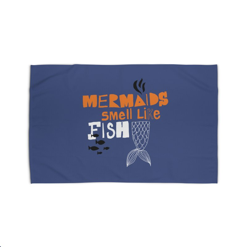 Mermaids Smell Like Fish Home Rug by MAKI Artist Shop