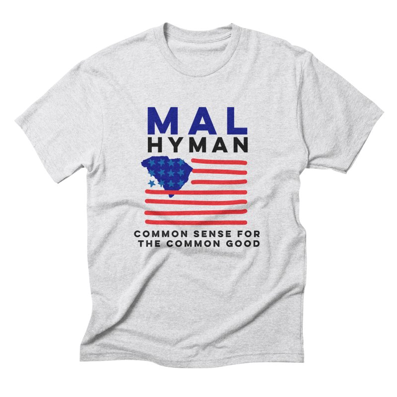Mal Hyman SC Flag Men's Triblend T-Shirt by Shop Mal Hyman for Congress