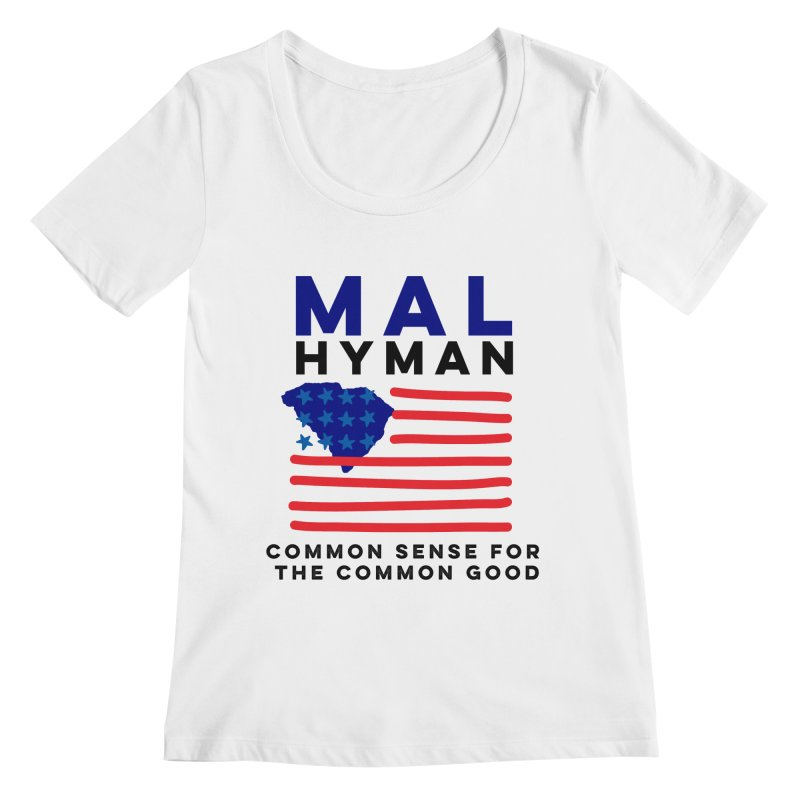 Mal Hyman SC Flag Women's Regular Scoop Neck by Shop Mal Hyman for Congress