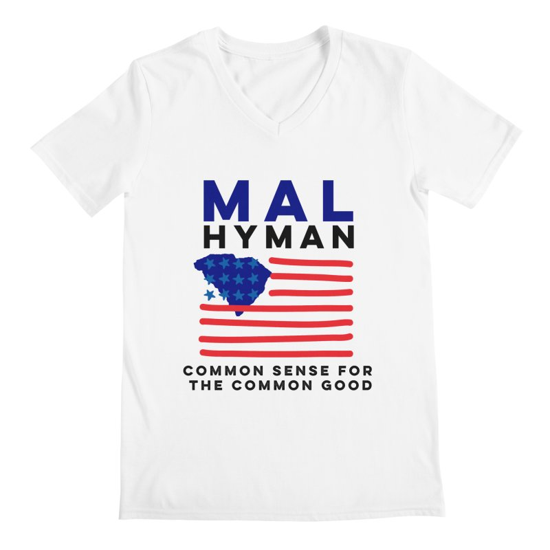 Mal Hyman SC Flag Men's Regular V-Neck by Shop Mal Hyman for Congress