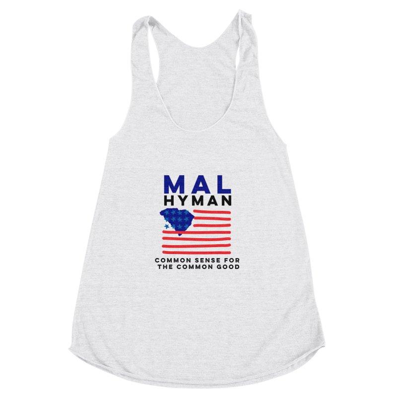 Mal Hyman SC Flag Women's Racerback Triblend Tank by Shop Mal Hyman for Congress