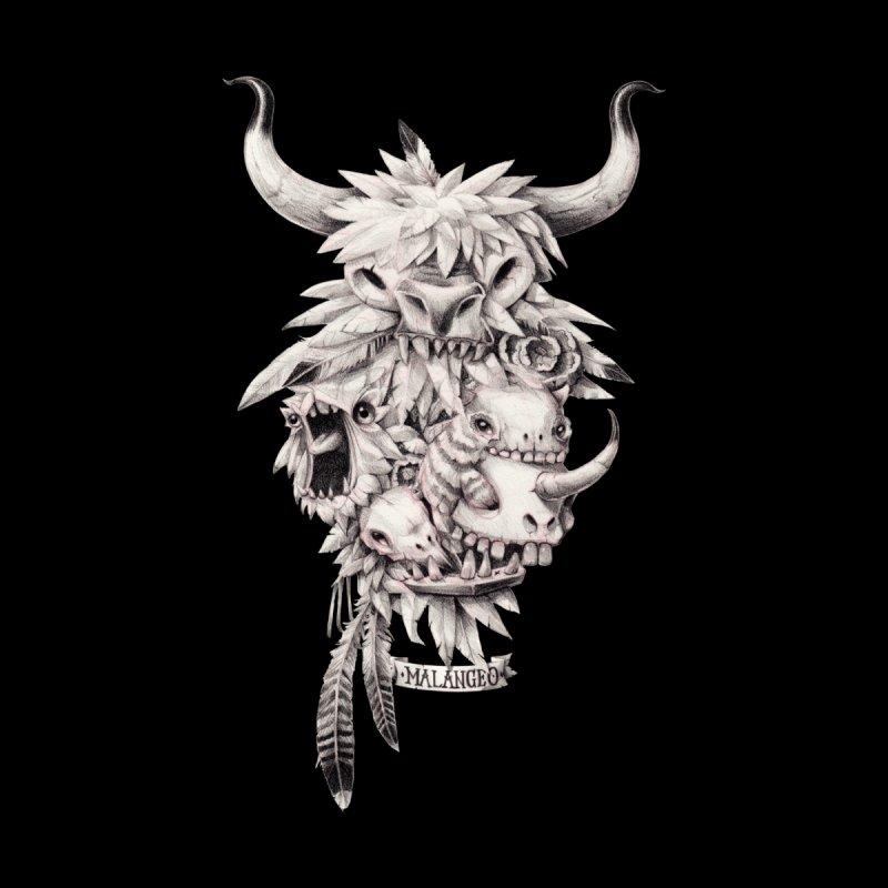Teef, Feathers & Skullz - Black Edition by malangeo's Artist Shop