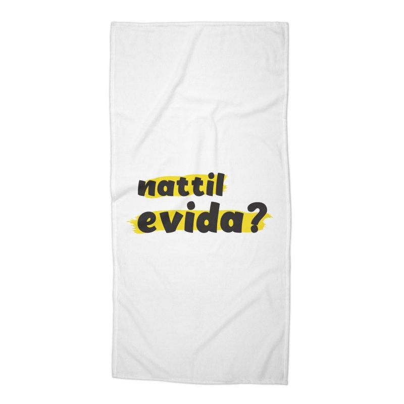 Nattil Evida -  നാട്ടിൽ എവിടാ? Accessories Beach Towel by malayali