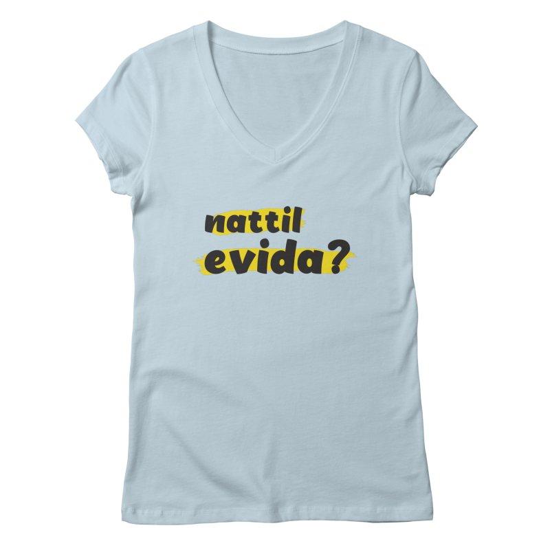 Nattil Evida -  നാട്ടിൽ എവിടാ? Women's V-Neck by malayali
