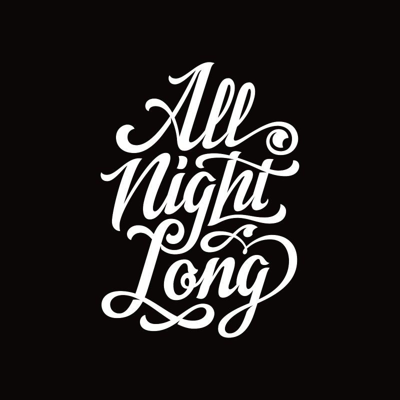 ALL NIGHT LONG Men's T-Shirt by Malcom clothing