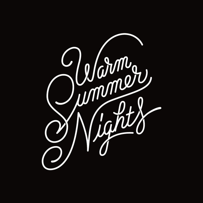 WARM SUMMER NIGHTS Men's T-Shirt by Malcom clothing