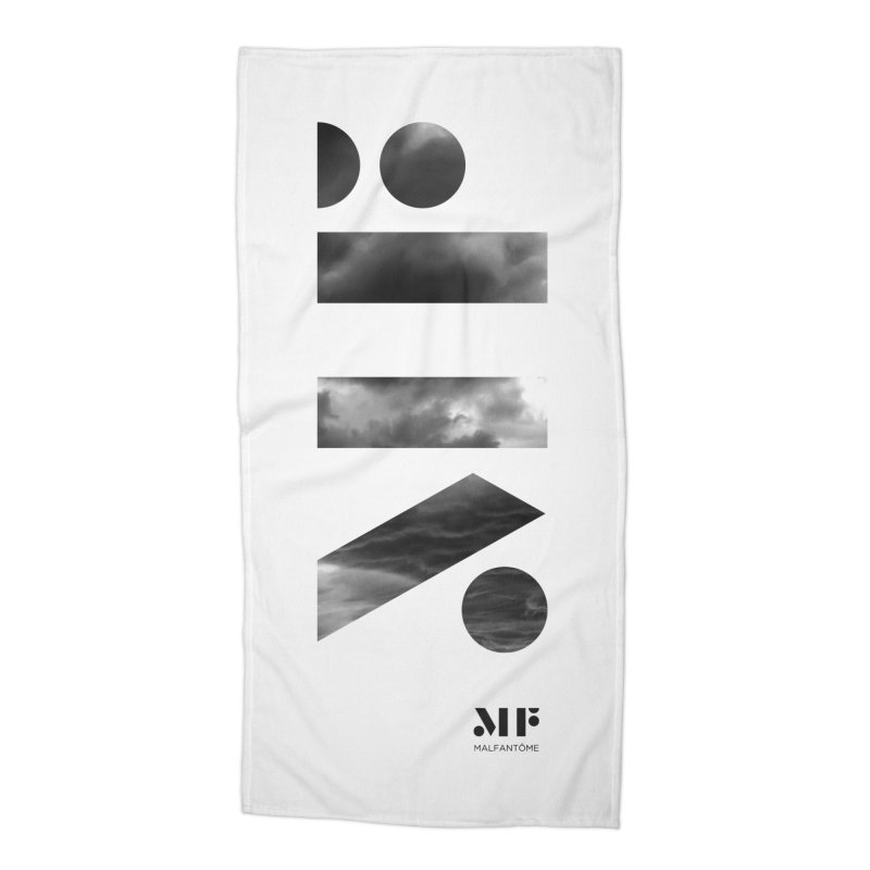 Mal Fantome | Cloud logo Accessories Beach Towel by Mal Fantôme's Artist Shop