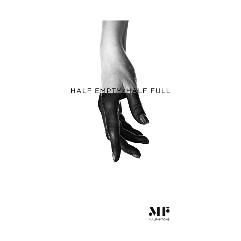 Mal Fantome | Half Empty / Half Full Women's V-Neck by Mal Fantôme's Artist Shop