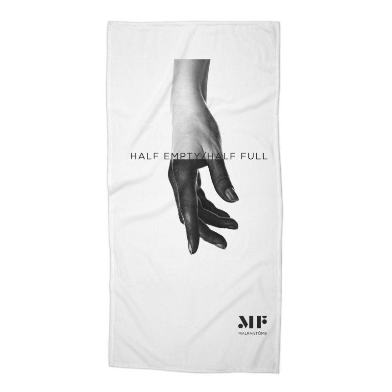 Mal Fantome | Half Empty / Half Full Accessories Beach Towel by Mal Fantôme's Artist Shop