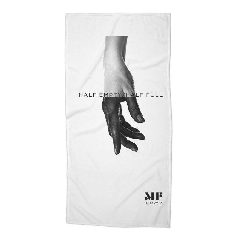 Mal Fantome | Half Empty / Half Full Accessories Beach Towel by Mal Fantôme's Artist Shop