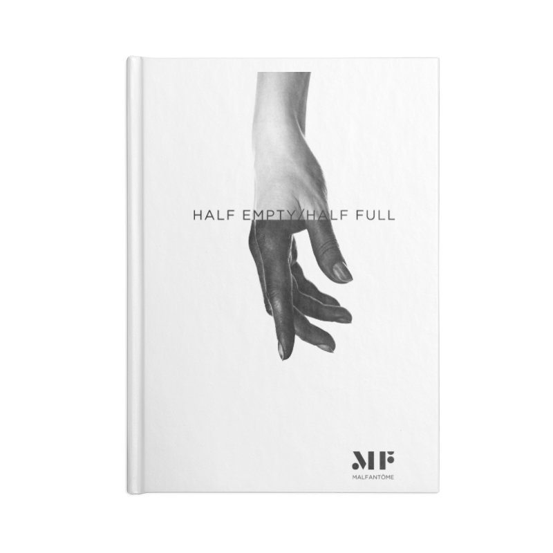 Mal Fantome   Half Empty / Half Full Accessories Notebook by Mal Fantôme's Artist Shop