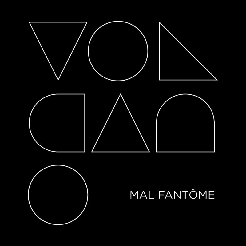 Volcano White Men's V-Neck by Mal Fantôme's Artist Shop