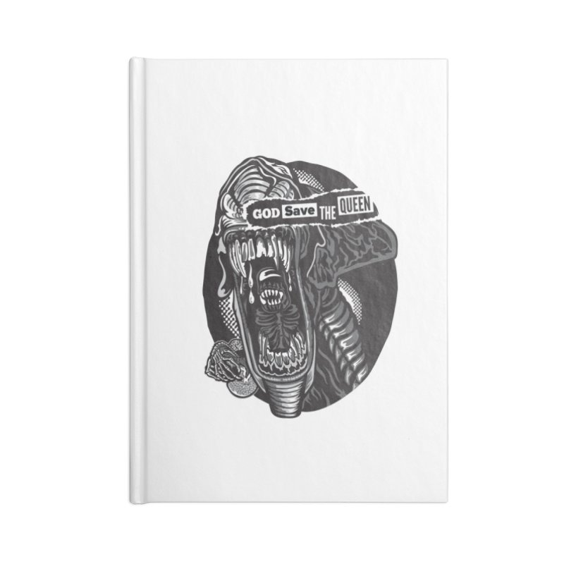 God save the queen Accessories Lined Journal Notebook by malgusto