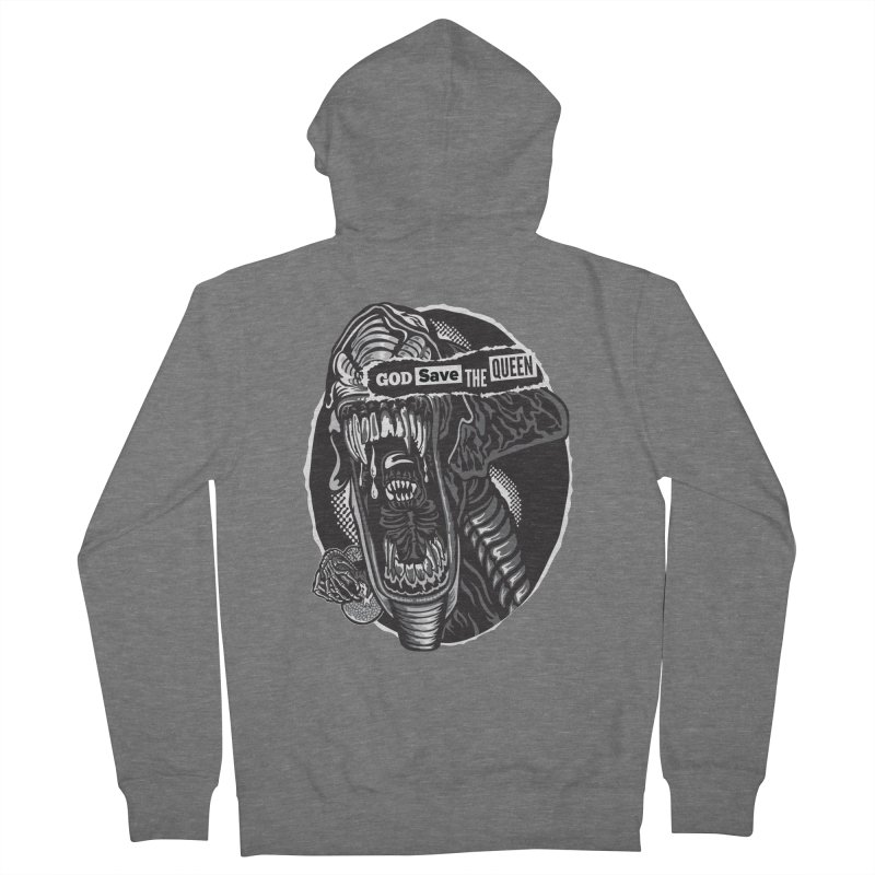 God save the queen Men's French Terry Zip-Up Hoody by malgusto