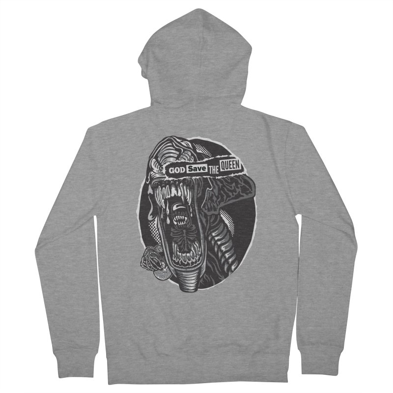 God save the queen Men's Zip-Up Hoody by malgusto