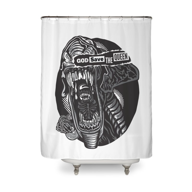 God save the queen Home Shower Curtain by malgusto