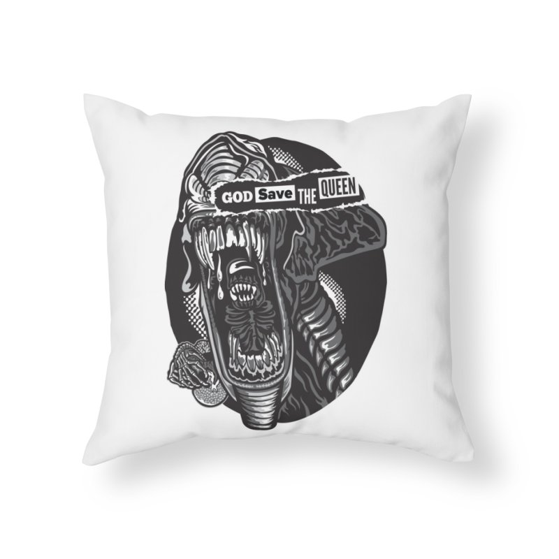 God save the queen Home Throw Pillow by malgusto