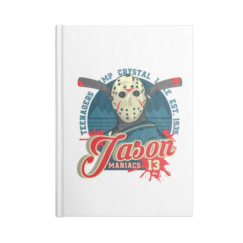 Jason Maniacs Accessories Lined Journal Notebook by malgusto