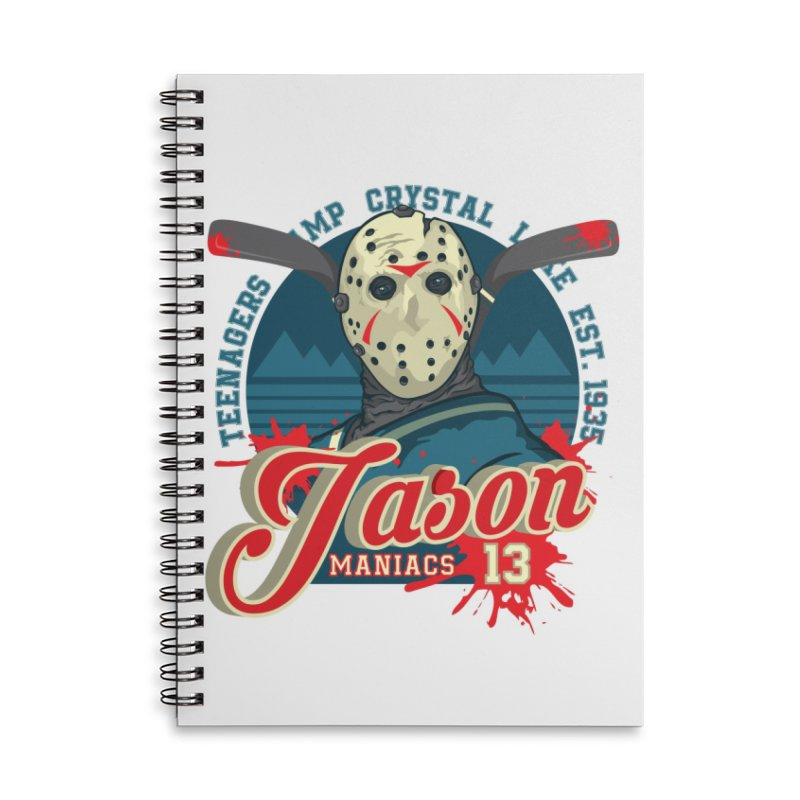Jason Maniacs Accessories Lined Spiral Notebook by malgusto