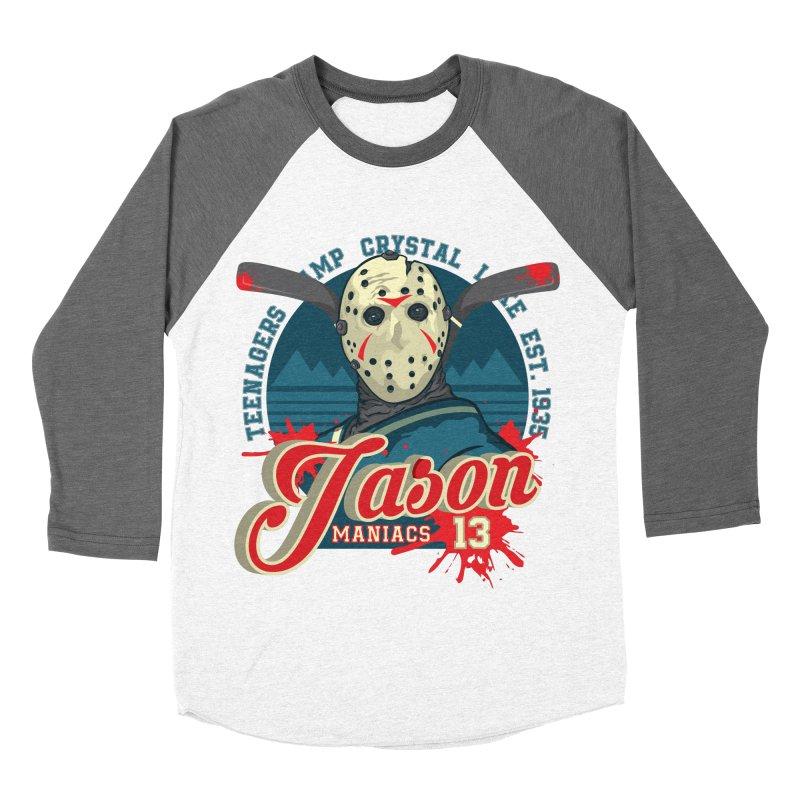 Jason Maniacs Women's Baseball Triblend Longsleeve T-Shirt by malgusto