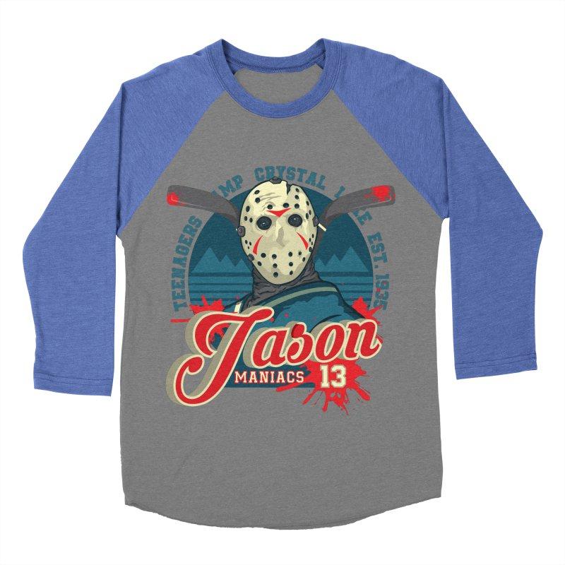 Jason Maniacs Women's Baseball Triblend T-Shirt by malgusto