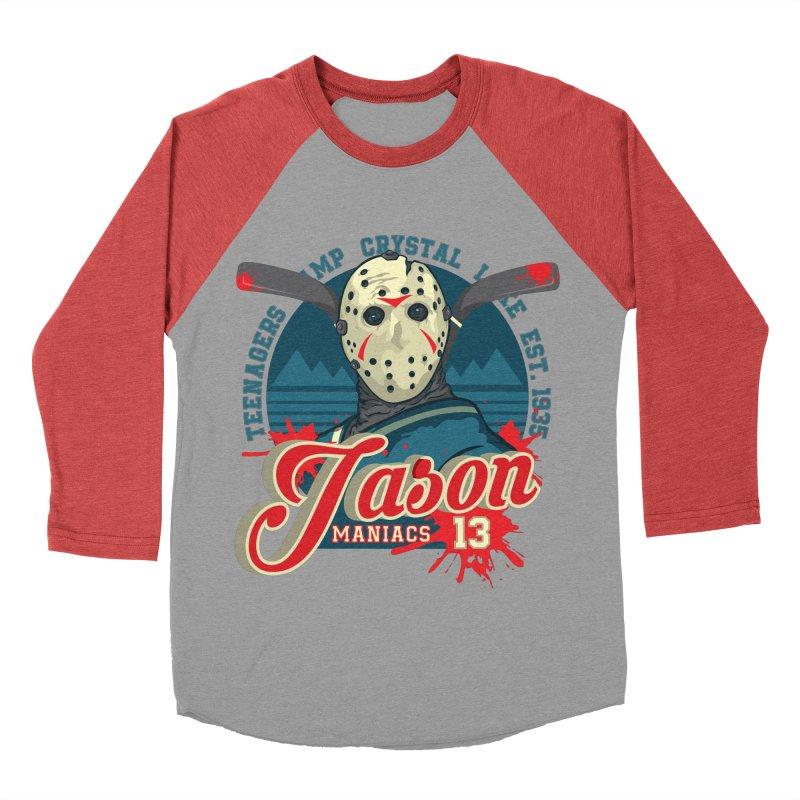 Jason Maniacs Men's Baseball Triblend T-Shirt by malgusto