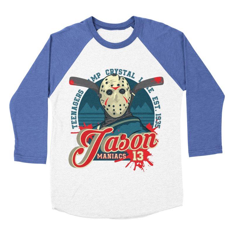 Jason Maniacs Men's Baseball Triblend Longsleeve T-Shirt by malgusto