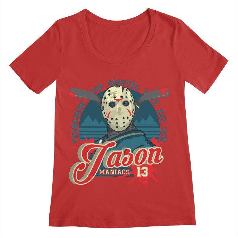 Jason Maniacs Women's Regular Scoop Neck by malgusto