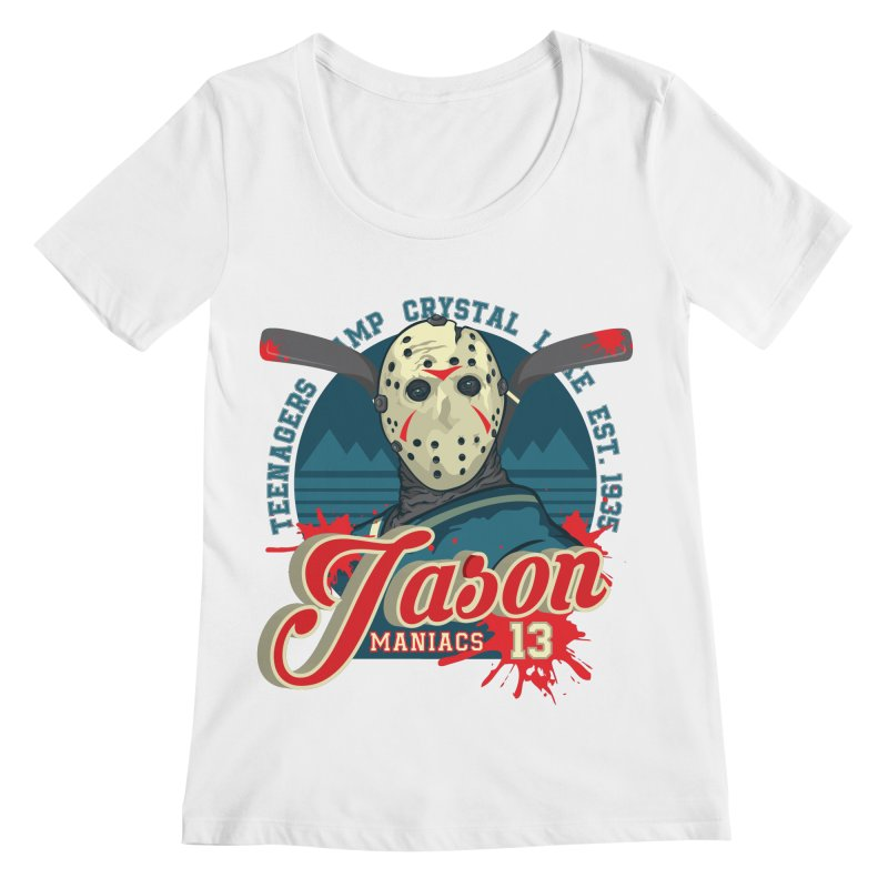 Jason Maniacs Women's Scoopneck by malgusto