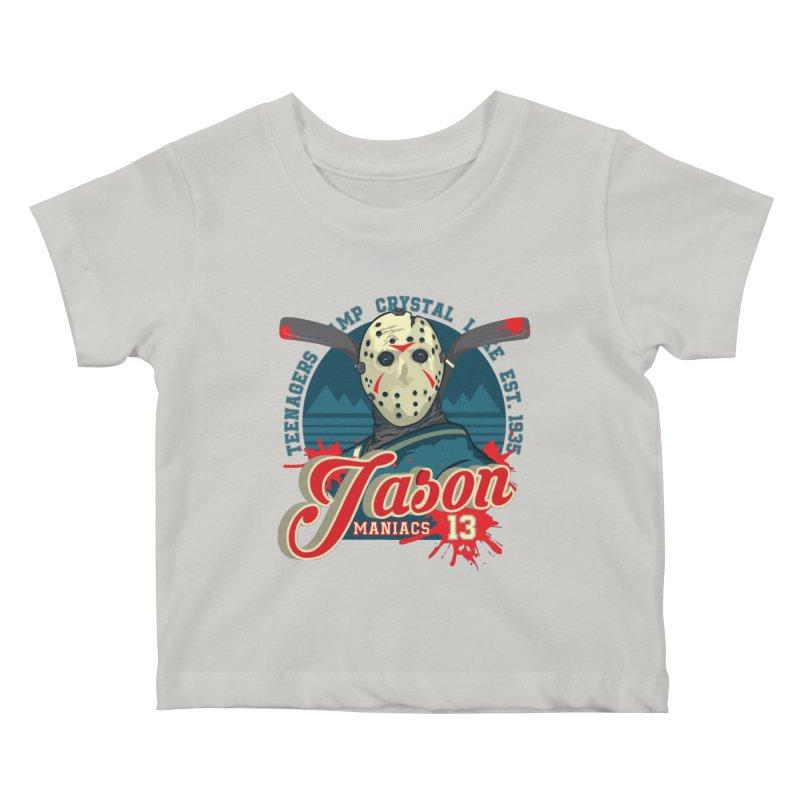 Jason Maniacs Kids Baby T-Shirt by malgusto