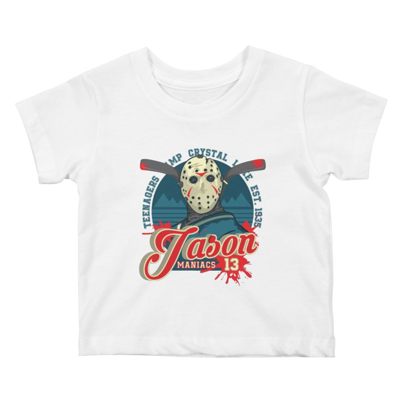 Jason Maniacs Kids Baby T-Shirt by malgusto