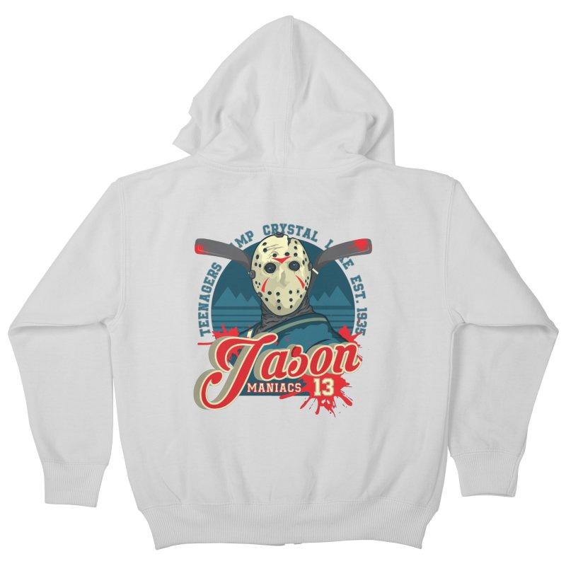 Jason Maniacs Kids Zip-Up Hoody by malgusto
