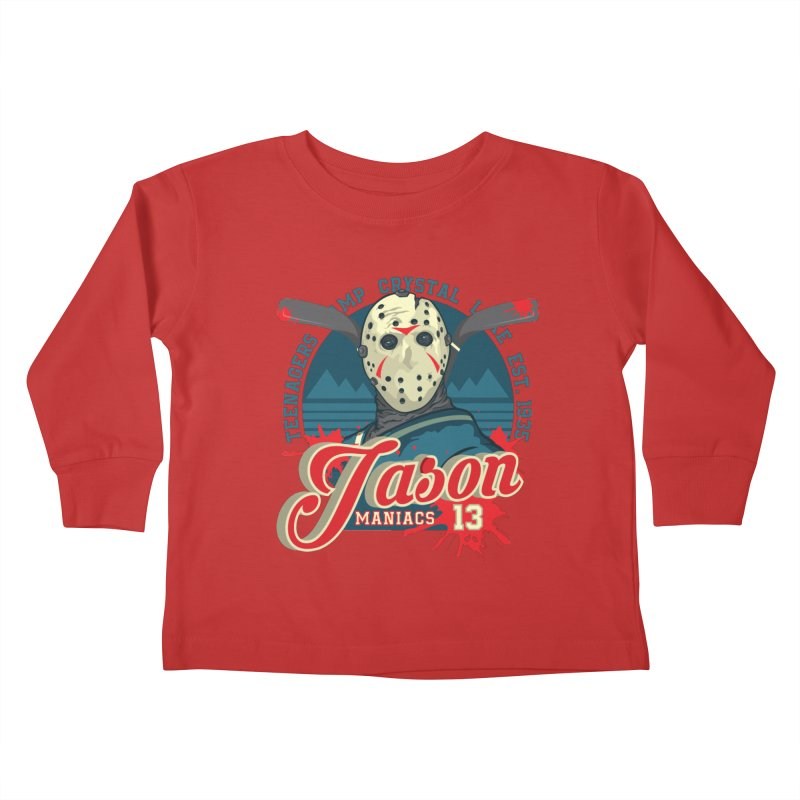 Jason Maniacs Kids Toddler Longsleeve T-Shirt by malgusto
