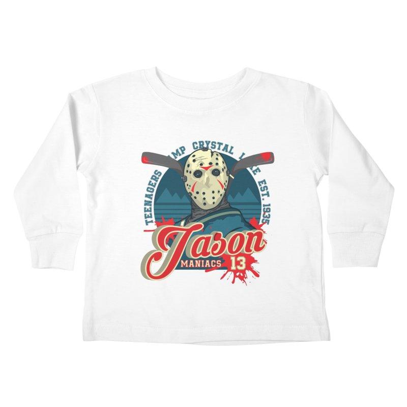 Jason Maniacs Kids Toddler Longsleeve T-Shirt by malgusto